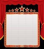 Bildschirmanzeige auf roter Stufe lizenzfreie abbildung