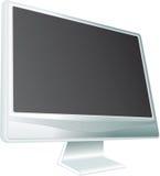 Bildschirmanzeige auf weißem Hintergrund. stock abbildung