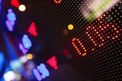 Bildschirmanzeige der Börse Stockfotos