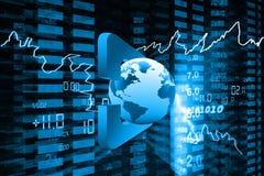 Bildschirmanzeige der Börseen-Anführungsstriche lizenzfreie abbildung