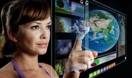Bildschirmanzeige der Zukunft 3d Stockbild