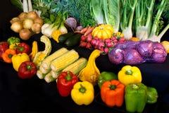 Bildschirmanzeige des Markt-Gemüses Stockfoto