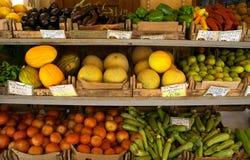 Bildschirmanzeige des Obsthändlers Stockfotografie