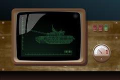 Bildschirmanzeige des Radars vektor abbildung