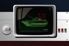 Bildschirmanzeige des Radars stock abbildung