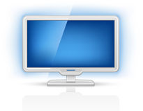 Bildschirmanzeige Fernsehapparat lizenzfreie abbildung