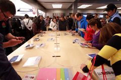 Bildschirmanzeigen Apple-iPad2 Lizenzfreies Stockbild