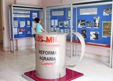 Bildschirmanzeigen bei Museo de la Revolucion in Havana Stockbild