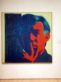 Bildschirmausdruck-Selbstporträts von Andy Warhol Stockfotografie
