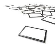 Bildschirme Fernsehapparat3d, digitaler Tablette PC Stockfotos