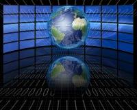 Bildschirme und Zweiheit mit Erde Stockfotos