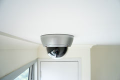 Bildskärm för CCTV-säkerhetskamera i regeringsställning som bygger royaltyfri fotografi