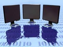 bildskärm vol för 3 lcd Arkivfoton
