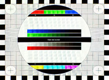 Bildskärmprov Arkivbild