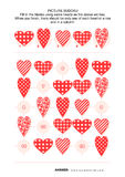 Bildsudokupussel med hjärtor Fotografering för Bildbyråer