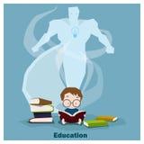 Bildung ist Supermacht zum Erfolg Stockbild