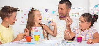 Bildung und Familienkonzept stockbilder