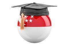 Bildung und Studie in Singapur-Konzept, Wiedergabe 3D lizenzfreie abbildung