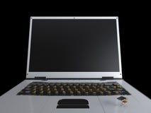 Bildung und Technologiekonzept mit Notizbuch Lizenzfreies Stockfoto