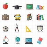 Bildung zurück zu Schulikonen Lizenzfreie Stockfotografie