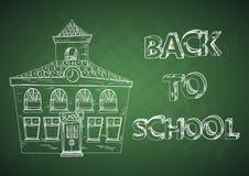 Bildung zurück zu Schulhaus. Stockfotos