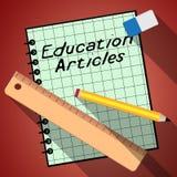 Bildungs-Artikel stellt Lernen-Informationen 3d Illustrati dar Lizenzfreies Stockbild