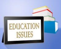 Bildungs-Fragen stellt die Erziehung des Trainings und kritisch dar stock abbildung