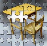 Bildungs-Puzzlespiel Stockbild