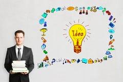 Bildungs-, Technologie-, Ideen- und Wissenskonzept Lizenzfreie Stockbilder