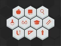Bildungs- und Wissenschaftsikonen Lizenzfreies Stockbild