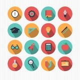 Bildungs- und Wissenschaftsikonen Lizenzfreie Stockbilder