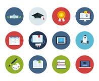 Bildungs- und Wissenschaftsikonen Stockfotos