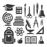 Bildungs- und Wissenschaftssymbole Lizenzfreies Stockbild