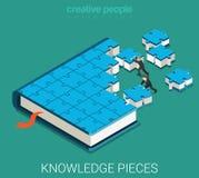 Bildungsbuch des flachen isometrischen Vektors 3d des Puzzlespiels Lizenzfreie Stockfotografie