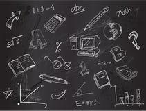 Bildungsgekritzel-Satzvektor lizenzfreie abbildung