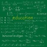 Bildungsgekritzelbeschaffenheit Lizenzfreie Stockfotos