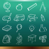 Bildungsikonen Lizenzfreie Stockfotos
