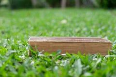 Bildungskonzept - Bücher, die auf Gras liegen Lizenzfreie Stockfotografie
