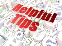 Bildungskonzept: Hilfreiche Tipps auf Alphabethintergrund Lizenzfreie Stockfotos