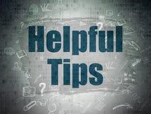 Bildungskonzept: Hilfreiche Tipps auf Digital-Papier Lizenzfreie Stockfotografie