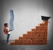 Bildungsweg für ein kleines Mädchen Lizenzfreie Stockfotografie