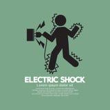 Bildzeichen eines Mannes erhalten einen Elektroschock Lizenzfreies Stockfoto