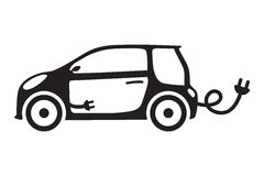 Bilekologi isolerade för den gröna automatiskn för vektorn begreppssymbolen för medlet den elektriska Royaltyfri Foto