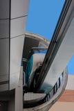 Bilen är värd på enskenig järnvägstationen sydney Arkivbilder