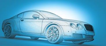 Bilen 3D modellerar Royaltyfria Foton