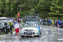 Bilen av det NetApp-Endura laget - Tour de France 2014 Arkivbilder