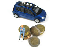 bilen cost körning arkivbilder
