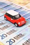 bilen costs euro Arkivbilder