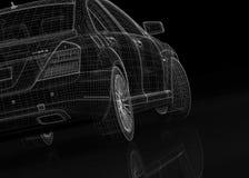 Bilen 3D modellerar Arkivbilder