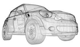 Bilen 3D modellerar Fotografering för Bildbyråer